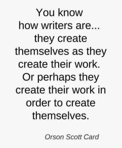 writing quote Scott Card