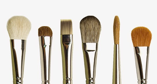 six artist paintbrushes